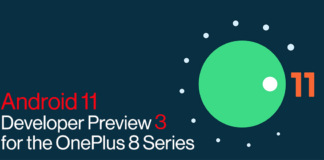Android 11 Developer preview 3 for the OnePlus 8 series.