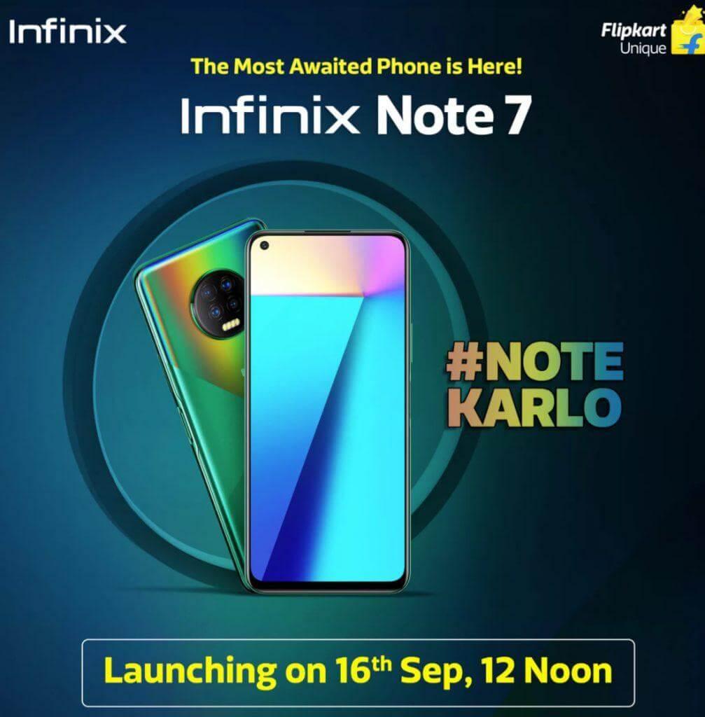 Infinix Note 7 Flipkart promo