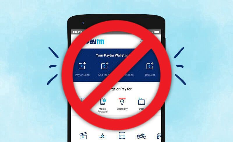 Paytm removed from Play Store