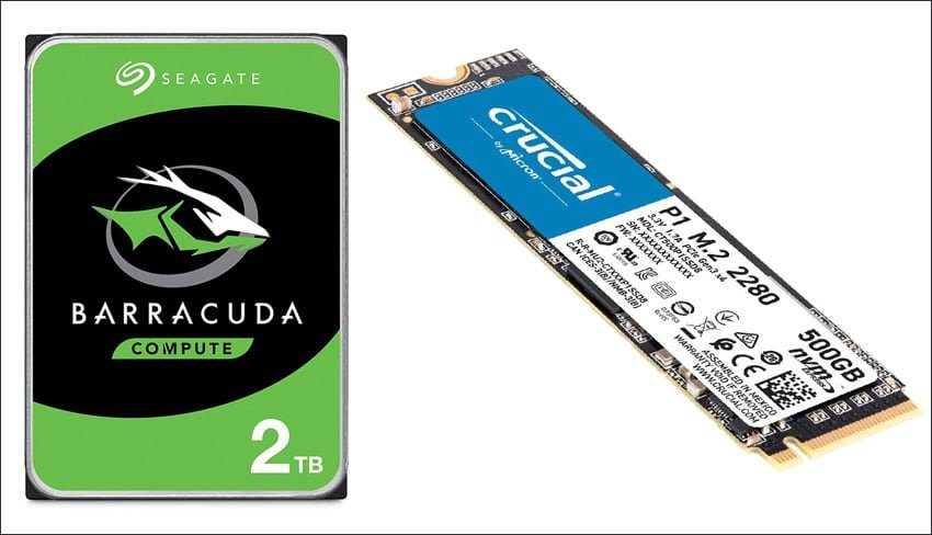 2.5TB (Solid State Drive + Hard Disk Drive)