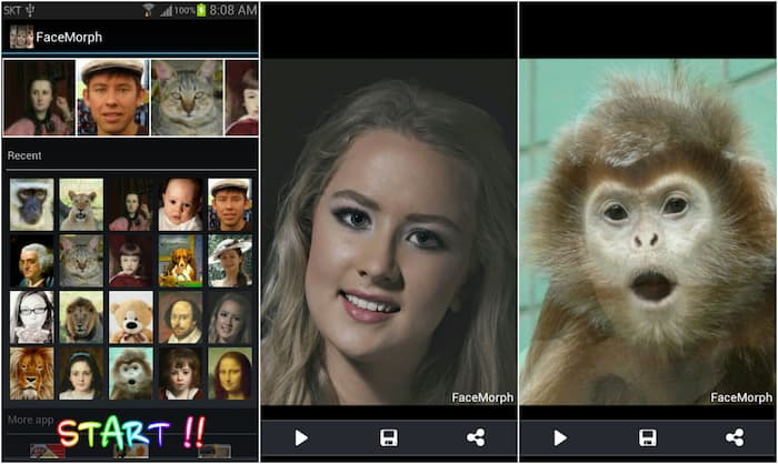 Face Morph app on Play Store
