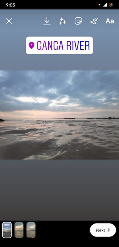 Edit images in Instagram story